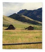 Ranch Along Tom Miner Road Fleece Blanket