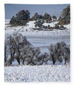 Ranch Land Sun And Shadows Fleece Blanket