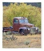 Ranch Truck II Fleece Blanket