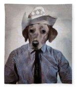 Rancher Dog Fleece Blanket