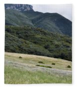 Rancho Sierra Vista Satwiwa Mountains Portrait Fleece Blanket
