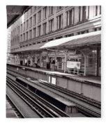 Randolph Street Station Chicago Fleece Blanket