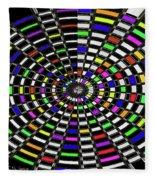 Random Color Oval Abstract Fleece Blanket