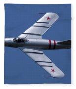 Randy Ball's Mig-17f Banking Left Fleece Blanket