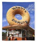 Randy's Donuts Fleece Blanket