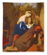 Raphael And Fornarina 1840 Fleece Blanket