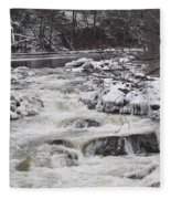 Rapids At Bull's Bridge 1 Fleece Blanket