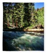 Rapids Near Maroon Bells Fleece Blanket