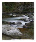 Rapids On The Washougal River Fleece Blanket