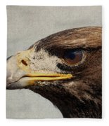 Raptor Wild Bird Of Prey Portrait Closeup Fleece Blanket