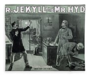 Rare Dr. Jekyll And Mr. Hyde Transformation Poster Fleece Blanket