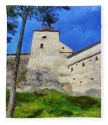 Rasnov Fortress Fleece Blanket