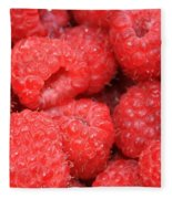 Raspberries Close-up Fleece Blanket