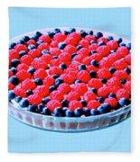 Raspberry And Blueberry Tart Fleece Blanket