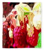 Raspberry Bush Fleece Blanket