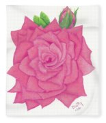 Raspberry Pink Fleece Blanket