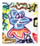 Rat Doodle Fleece Blanket