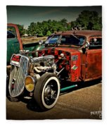 Rat Rod For Sale Fleece Blanket