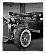 Rat Rod Scene 3 Fleece Blanket