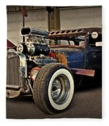 Rat Rod Scene Fleece Blanket