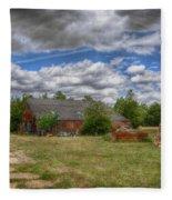 Rats Castle Farmyard  Fleece Blanket
