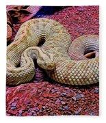Rattlesnake In Abstract Fleece Blanket