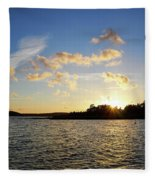 Raumanmeri Sunset Fleece Blanket