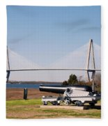 Ravanel Bridge From The Patriot Point Fleece Blanket