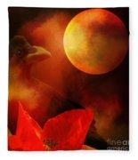 Raven Moon And Poppy 2 Fleece Blanket
