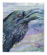 Raven Study 4 Fleece Blanket