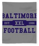 Ravens Retro Shirt Fleece Blanket
