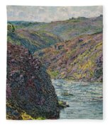 Ravines Of The Creuse At The End Of The Day Fleece Blanket