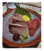 Raw Fish Sashimi Plate - Kyoto Japan Fleece Blanket