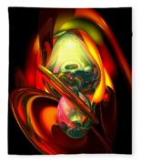 Raw Fury Abstract Fleece Blanket
