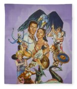 Ray Harryhausen Tribute Seventh Voyage Of Sinbad Fleece Blanket