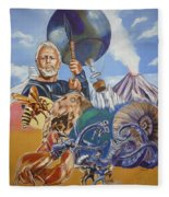 Ray Harryhausen Tribute The Mysterious Island Fleece Blanket