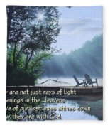 Rays Of Light - Place To Ponder Fleece Blanket