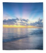 Rays Over The Reef Fleece Blanket