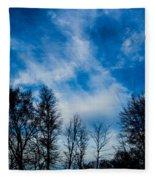 Reaching For Blue Fleece Blanket