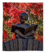 Reading Boy - Santa Fe Fleece Blanket