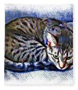 Ready For Napping Fleece Blanket