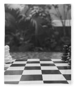 Ready Set Chess Fleece Blanket