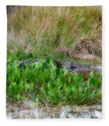Really Dangerous Alligator Fleece Blanket