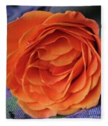 Really Orange Rose Fleece Blanket