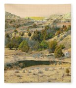 Realm Of Golden West Dakota Fleece Blanket