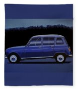 Renault 4 1961 Painting Fleece Blanket