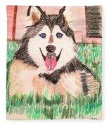Rebel The Husky  Fleece Blanket