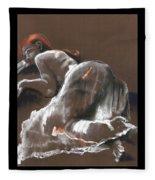 Reclining Figure With Skirt Fleece Blanket