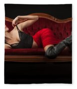 Reclining Hannah Fleece Blanket