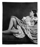 Reclining Nude, 1859 Fleece Blanket